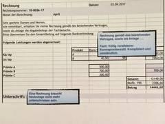 Wie Gestalten Sie Ihren Rechnungstext In Der Korrespondenz